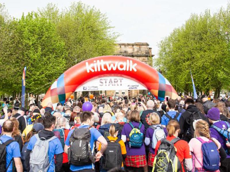 Glasgow Kiltwalk, April 2020