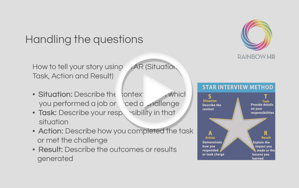 Watch Now: How to be a STAR at interviews